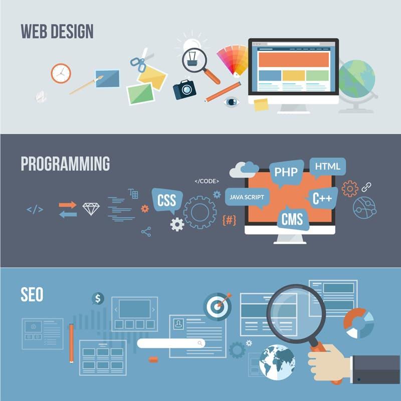 illustration création de sites web