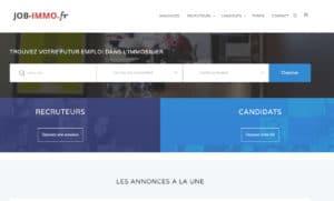 capture écran job-immo.fr