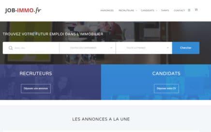 capture écrna du site d'emploi job-immo.fr