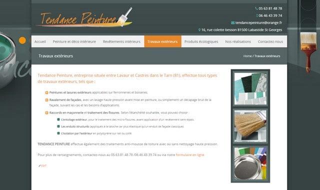 Site peinture cration duun site internet pour une for Idee pour site web